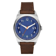 Armani Exchange AX2303 Blue Dial Brown Leather Strap [AX2303]
