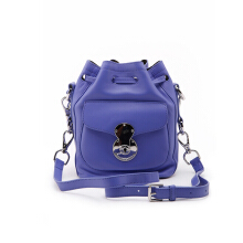 POLO RALPH LAUREN  Small Ricky Drawstring Leather Bag Purple-ZA545PEJ466