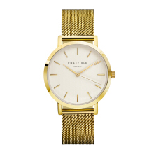 ROSEFIELD The Mercer Gold White Dial Watch with Gold Strap [MWG-M41]