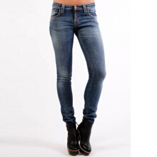 NUDIE JEANS Tight Long John Unisex - Light Navy Embo
