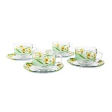 BRILIANT Cup and Saucer GM0808 Set of 8 - Green