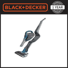 Black+Decker Smart Tech 18V 2in1 Stick Vac with Self Standing CS1830B-B1 Grey