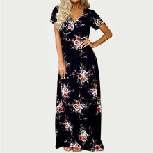 BESSKY Womens Maxi Boho Floral Summer Beach Long Evening Party Dress_