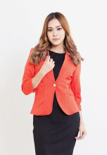 Blanik Chesna Open Front Blazer Outerwear 86043 - Orange [One Size]