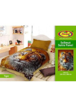 Selimut Rosanna Sutra Panel 150x200 Tiger - Brown