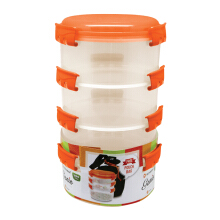 TECHNOPLAST Genio Round Sealware Stackable L4 Orange