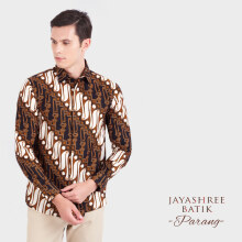 JAYASHREE BATIK Slim Fit Long Sleeve Parang - Black