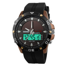 Skmei original solar watch men's trend double display outdoor sports watch waterproof personality watch