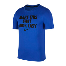 NIKE As M Nk Dry Tee Df Look Easy - Game Royal/Black