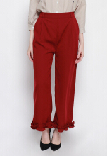 Shop at Banana Firlie Pants Maroon All Size