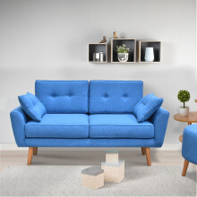 LIVIEN Furniture - Sofa / Kursi/ Bangku / Tiffany Sofa (2 Seater) Blue