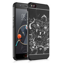 GANGXUN®ZTE nubia M2 Lite Case 3D Embossed Dragon Pattern Luxury Full Covered Matte Non-slip Protective Cover ZTE nubia M2 Lite