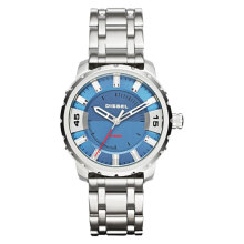 Diesel Stronghold Blue Dial Stainless Steel Strap Watch [DZ1723] Silver