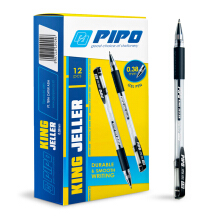 PIPO GP KING JELLER 0,38MM PPG103 Tinta Hitam (1 Pack = 12 Pcs)
