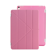 Ins I-0386 artificial leather Hard Core sheerApple Ipad MINI4 protective cover&Y stand-Pink
