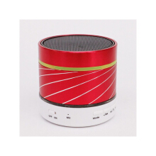 Vinmori Wireless Bluetooth Speaker Portable Mini Speaker with Hands-free Call LED Light TF Card Playback Red