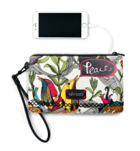 SAKROOTS Charging Wristlet in Optic Peace