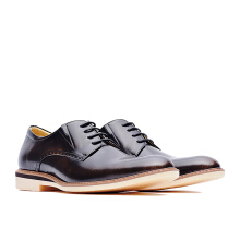 LIFE 8 Formal Casual Leather Derby Shoes - Bronze