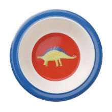 Crocodile Creek Dino Bowl - Blue White