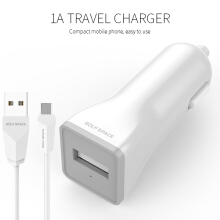 [free ongkir]GOLFSPACE Charger G-C1-1USB with Kabel Data micro White