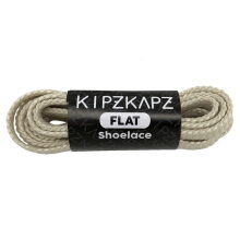 KIPZKAPZ FS30 Flat Shoelace - Off White [6mm] White 80 Centimeter