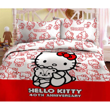 RISE Sprei Set Hello Kitty Anniversary King  - Red / 180 x 200 x 35 cm
