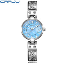 CRRJU Fashion Women Watches Analog Display Stainless Steel Elegant Quartz Watch Life Waterproof Good Gift Lady Watch