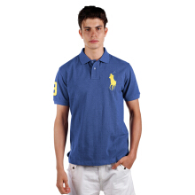 POLO RALPH LAUREN - Custom-Fit Polo Shirt Blue Men