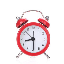 BESSKY Twin Bell Silent Alloy Stainless Metal Alarm Clock_