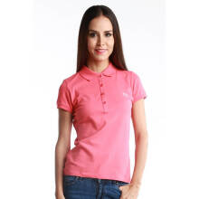 Fredperry Women Pink Polo wt Sliver Blue Laurel- L Size