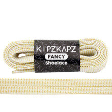 KIPZKAPZ XS18 Flat Metallic Shoelace - White Gold [8mm]
