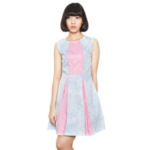Rianty Batik Dress Wanita Laurel - Blue Pink
