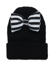 HEY! BABY Take A Bow Beanie - Black