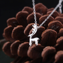 Luo Ling Long Silver Elk Elf Necklace