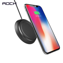 ROCK Qi Wireless Charger for iPhone X 8 for Samsung Galaxy Note 8 S8 S7 S6 Edge Mobile Phone Desktop 5W Wireless Charging