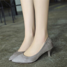 BESSKY Women Nude Shallow Mouth Fashion Elegant Ladies Office Work High Heels Shoes_