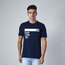One Hours Explorer T-shirt Men – Navy