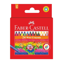 FABER-CASTELL Wax Crayon Regular 24 pcs 120057