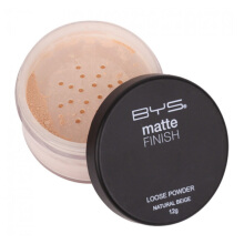 BYS Matte Loose Powder with Puff Natural Beige