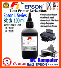 F1 Ink For Epson L Series Black 100 ml