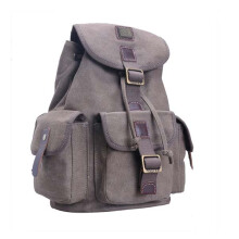 Troop London Classic Medium Canvas Backpack Brown TRP0269 Brown