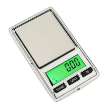 BESSKY 0.01g - 500g Gram Mini Digital LCD Balance Weight Pocket Jewelry Diamond Scale _ Silver