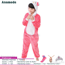 Anamode Size 100~140 Kids Cartoon Clothes Parent-Child Homewear Siamese Pajamas Suit -Dot Cat -