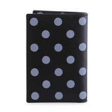 COMME des GARCONS Polka Leather Card Case Black (CDG01513A)