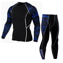 BESSKY Man Workout Leggings Fitness Sports Gym Running Yoga Athletic Pants+Shirt Suit_