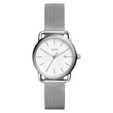 Fossil The Commuter Ladies Silver Dial Stainless Steel Strap [ES4331] Perak