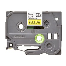 BROTHER Label Tape TZE-621 9MM Black on Yellow