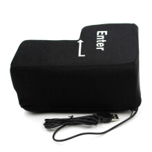 BESSKY Big Enter Key USB Pillow Anti-stress Relief Super Size Enter Key Unbreakable _ Black