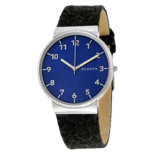 Skagen Ancher Blue Dial Black Felt Strap Man Watch [SKW6232]