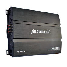 Audiobank AB-600.4 -  4 Channel Mosfet Power Amplifier Max. 12000W - Black